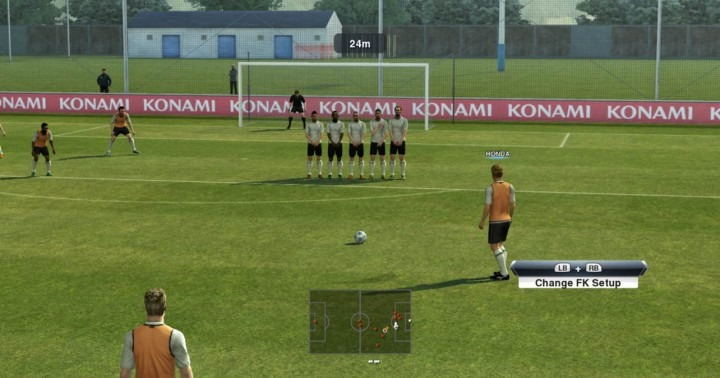 pes 2013 free kick training