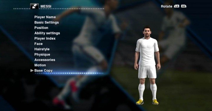 pes editing base copy
