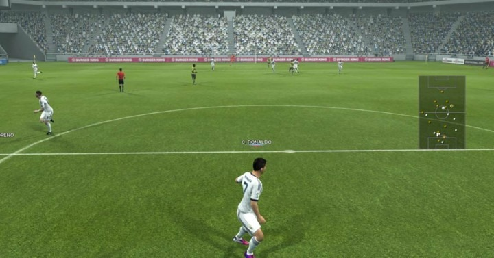 pes bal player camera