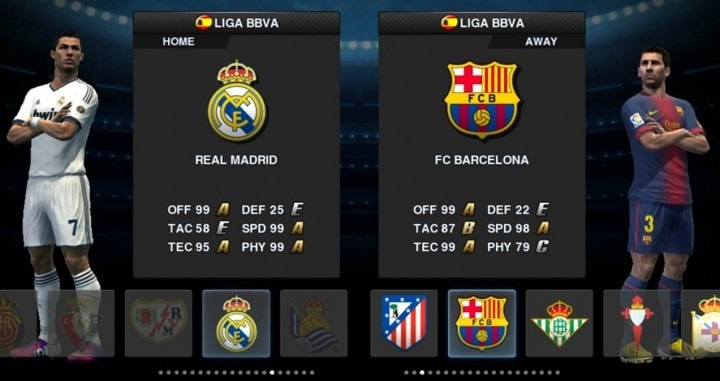 real madrid barcelona team rating