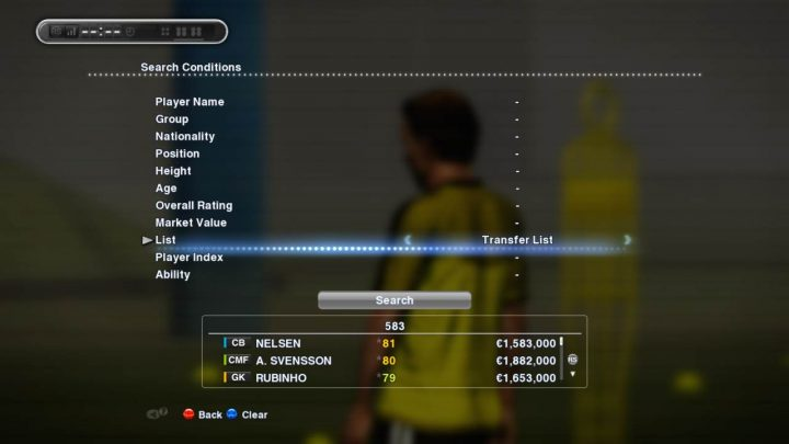pes master league advance search