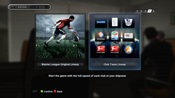 pes master league team selection