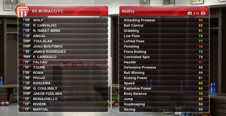 pes 2014 player ability