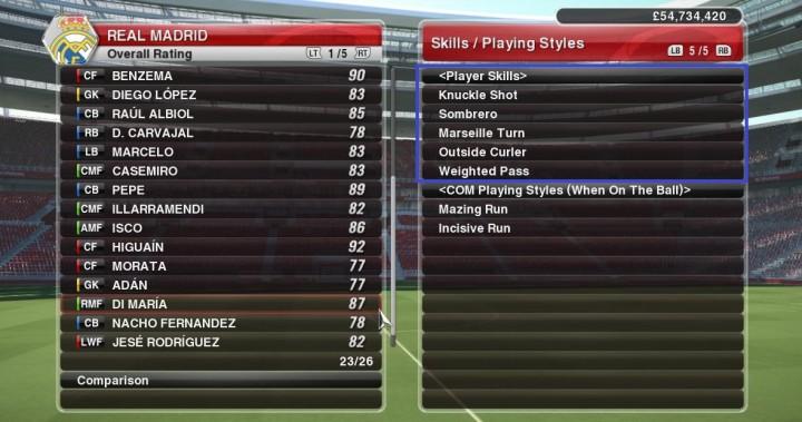 Player Skills