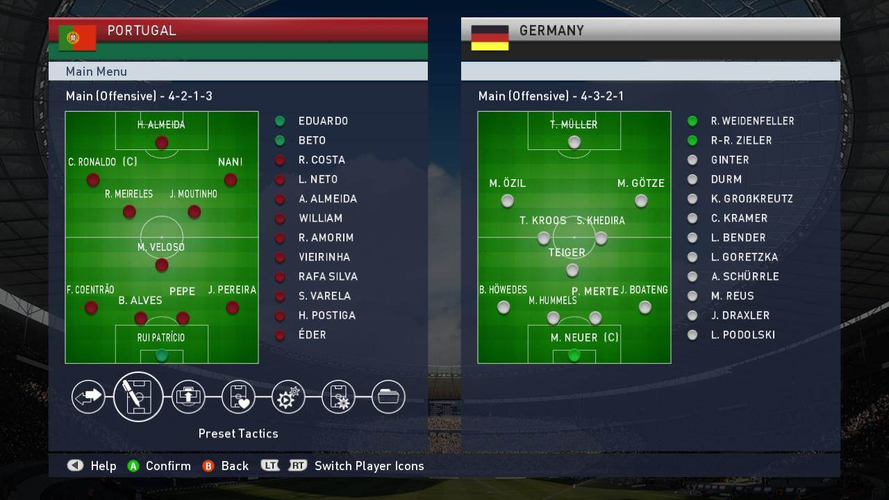 PES Portugal Tactical Option