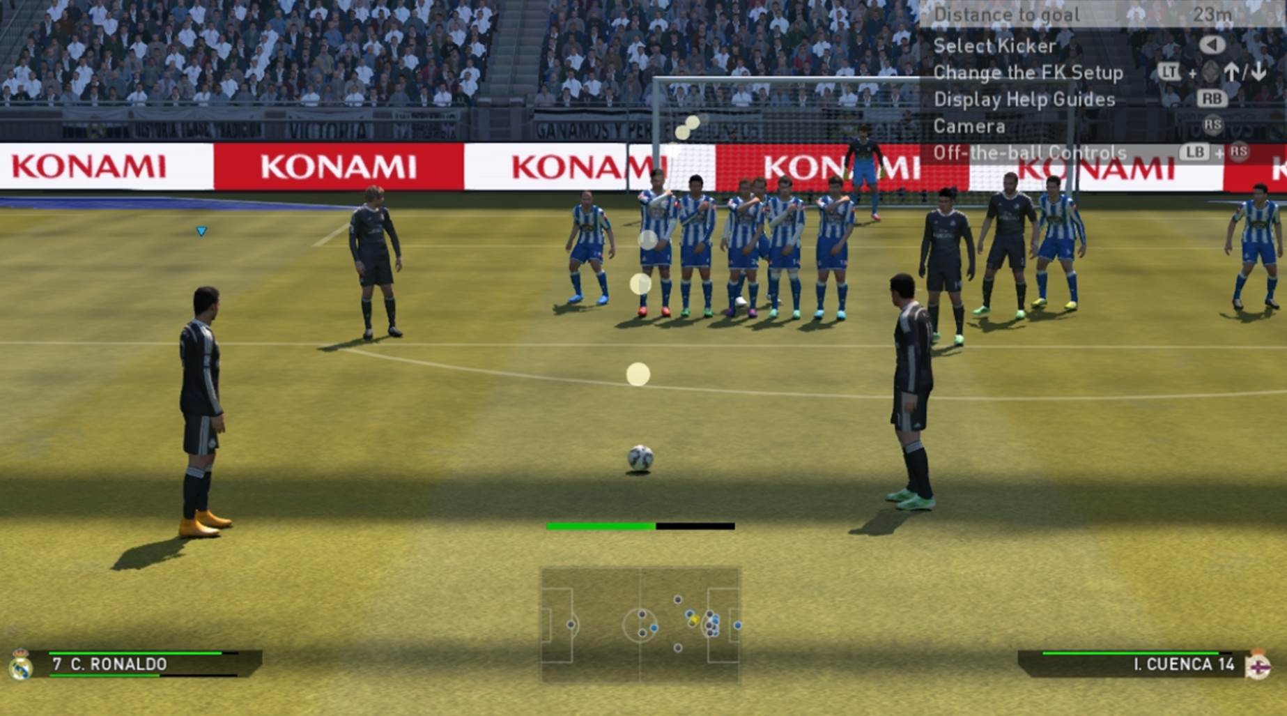 Using two free kick takers to confuse your opponent