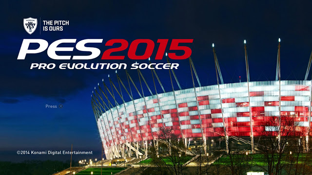 pes 2015 home screen