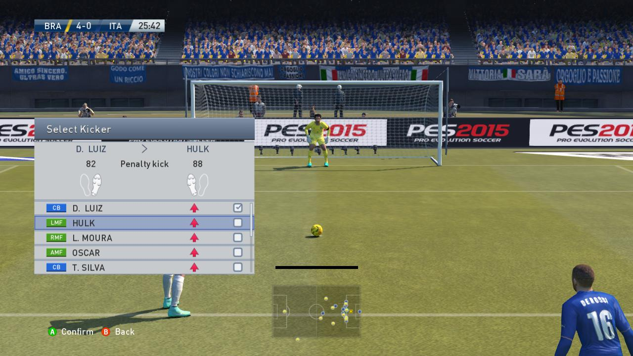 pes 2015 select penalty taker