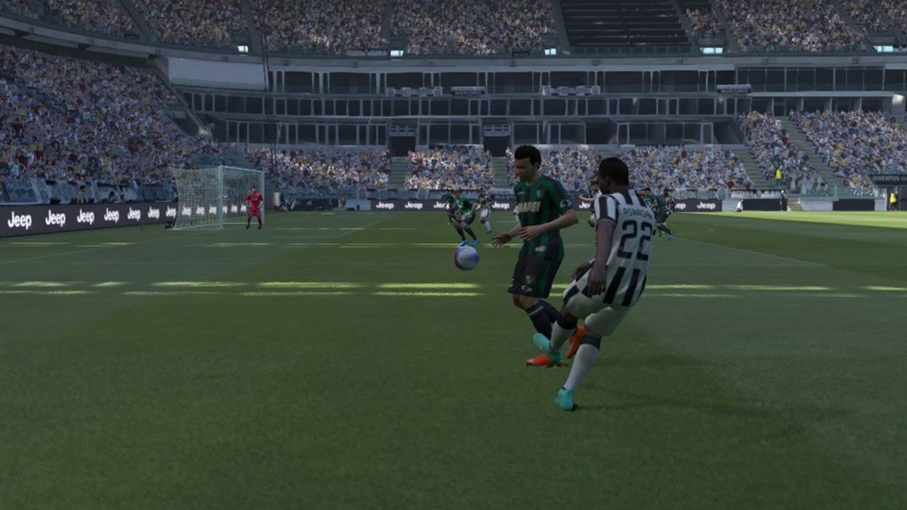 pes crossing into box