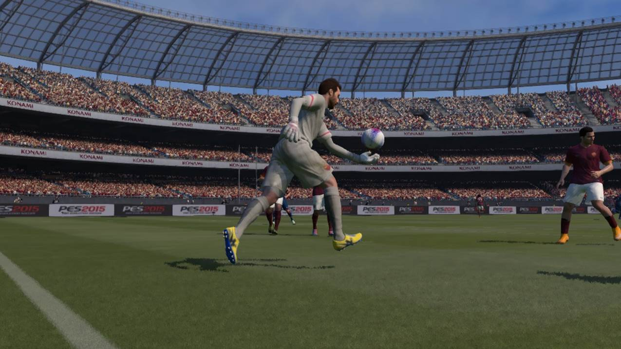pes goal keeper drop kick