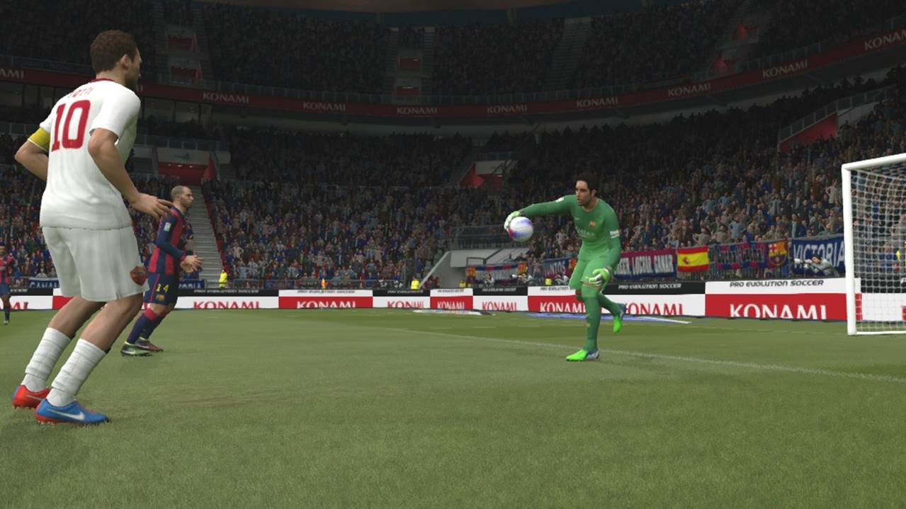 pes goal keeper fake throw