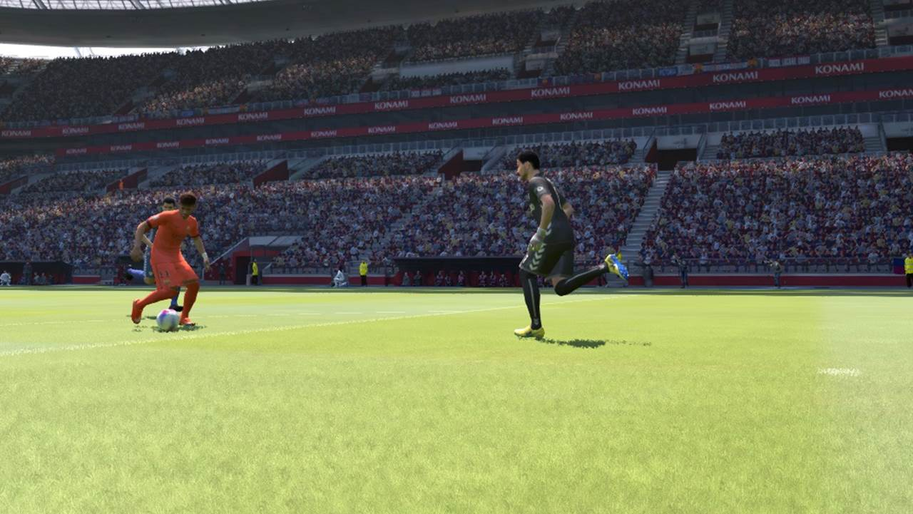 pes goal keeper rushing out