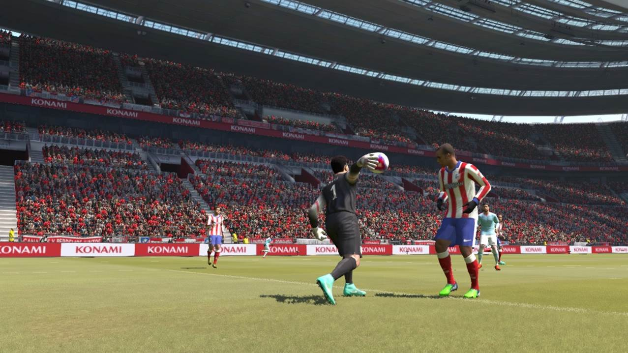 pes goal keeper throw