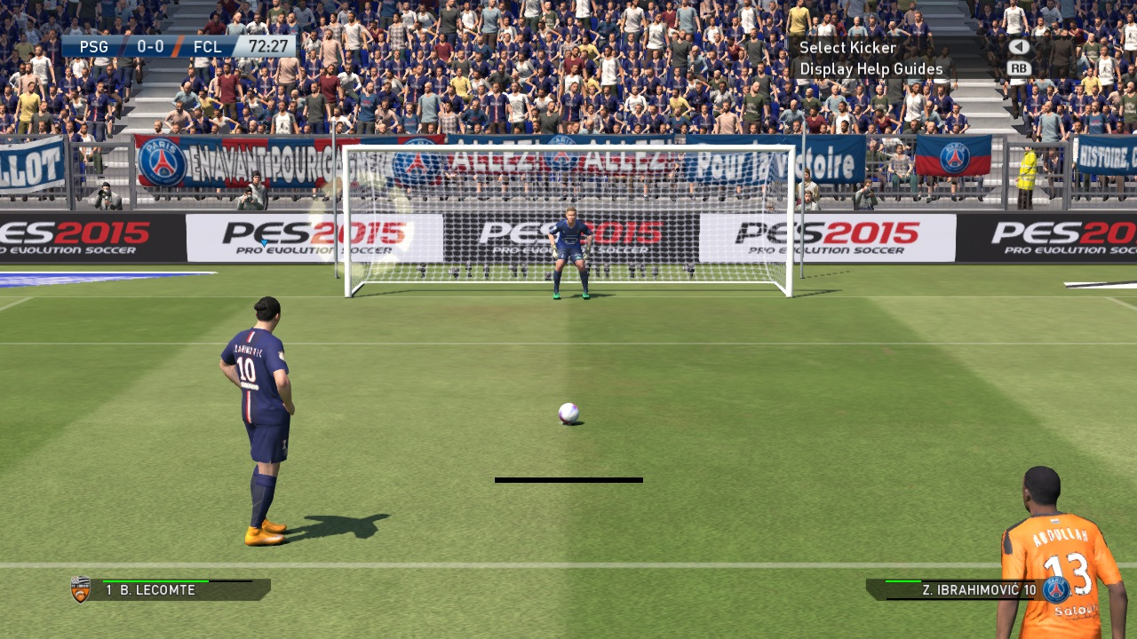 pes penalty kick