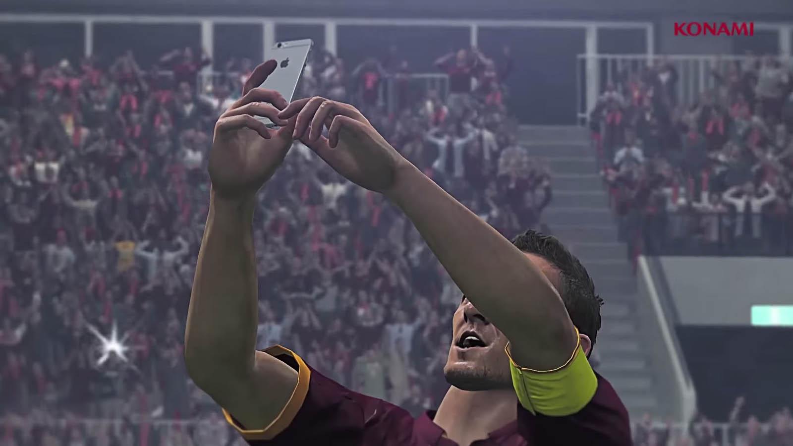 pes 16 totti selfie
