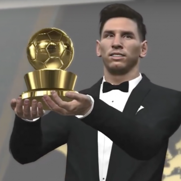 Messi world player of the year pes